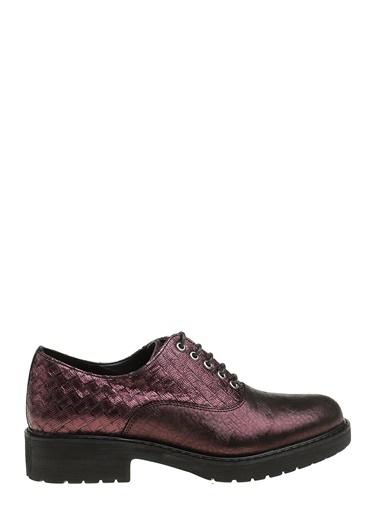 Divarese Bağcıklı Deri Klasik Ayakkabı Bordo